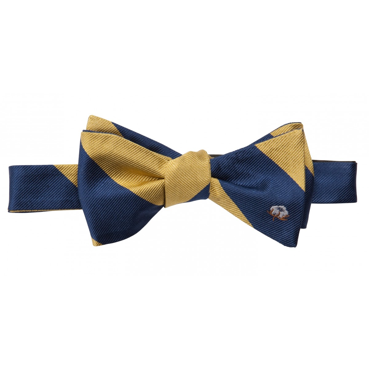 Cotton Boll Bow: Yellow & Navy